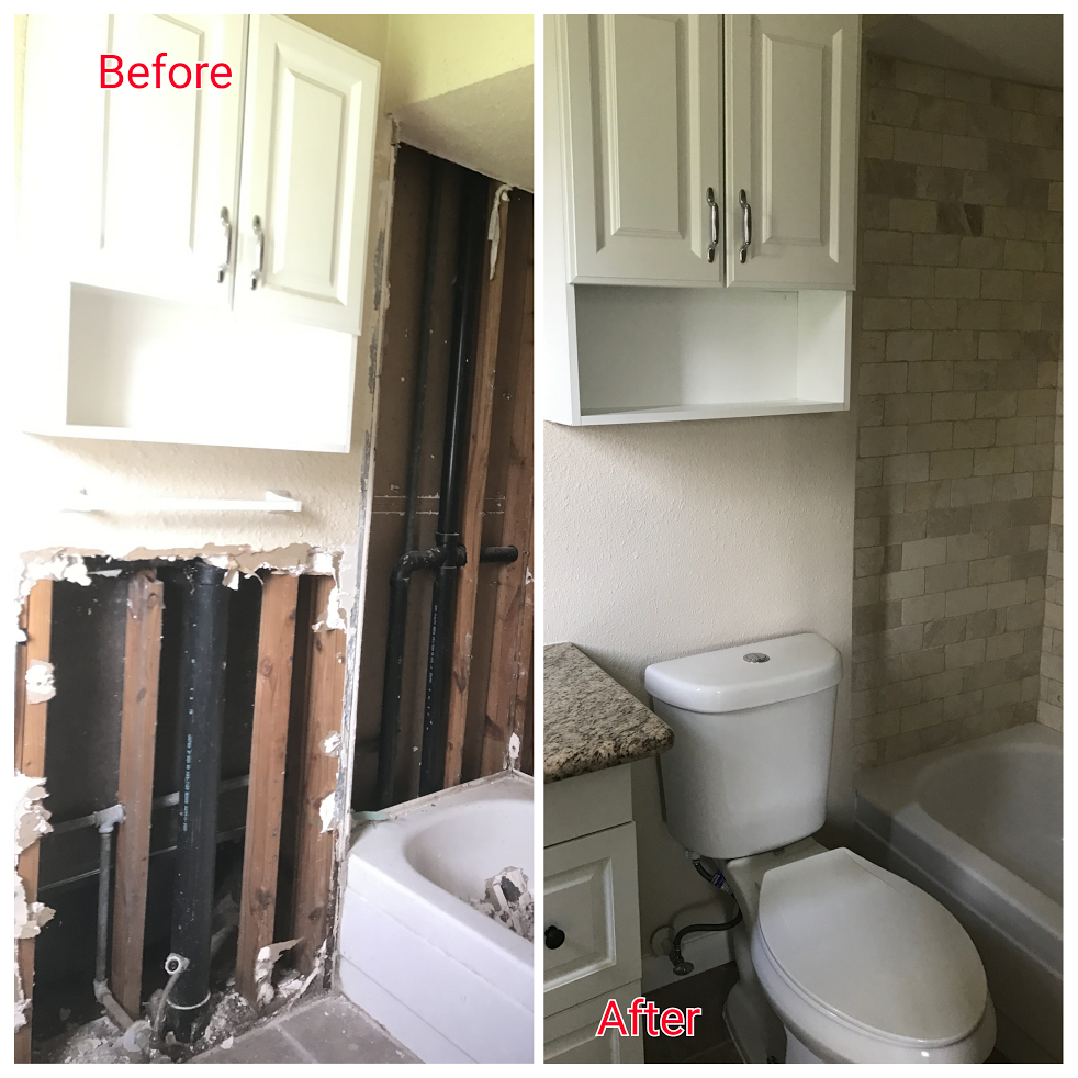Check out this Before and After Bathroom Renovation