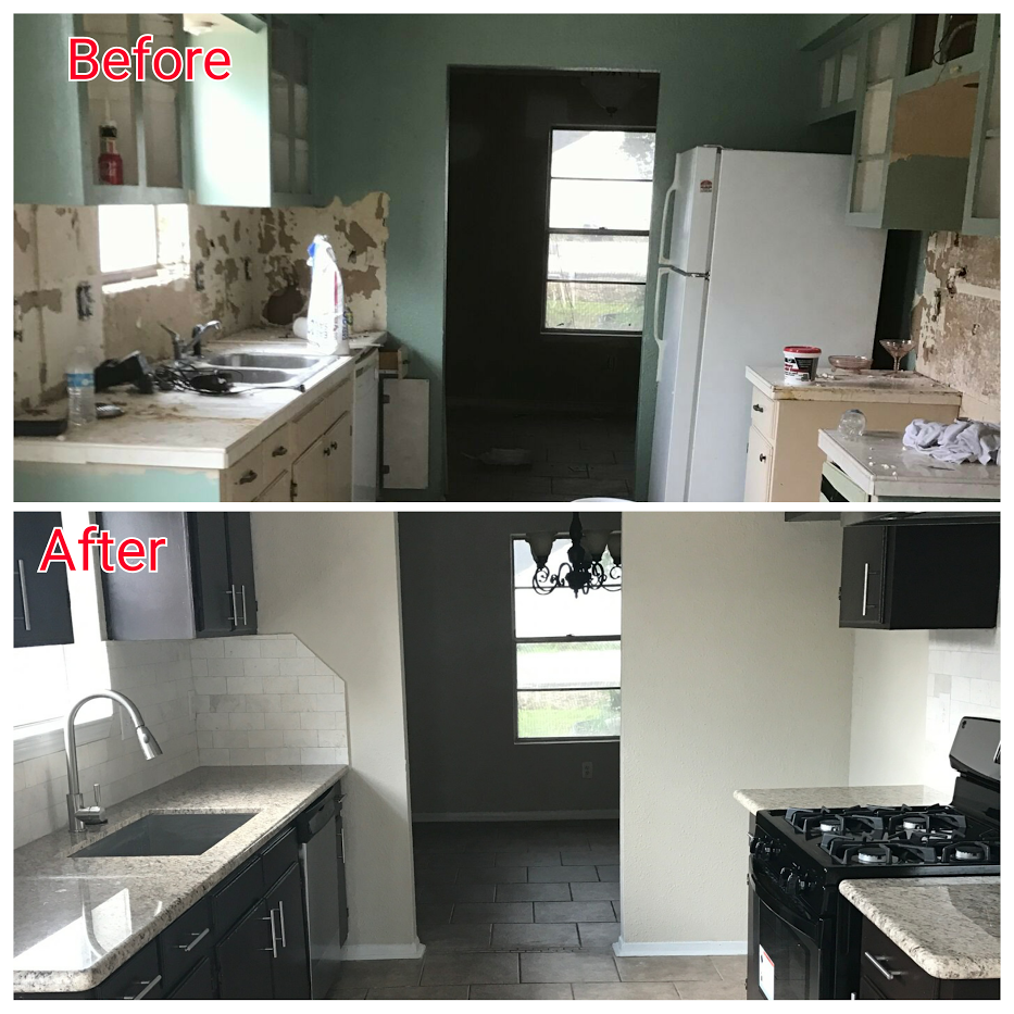 Check out the Before and After of the kitchen of one of our latest rehabs!